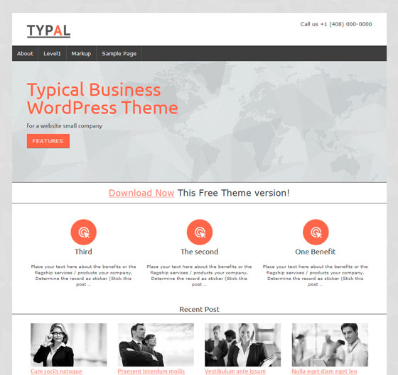 TYPAL тема WordPress