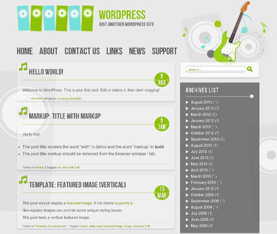 Music тема WordPress