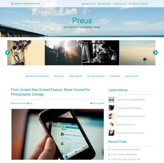 Preus тема WordPress