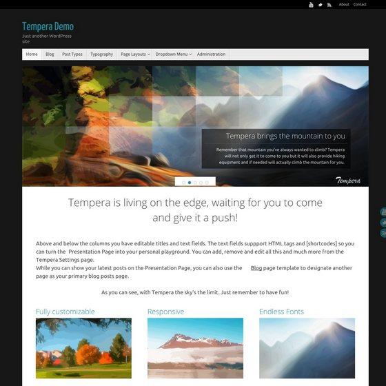 Tempera тема WordPress