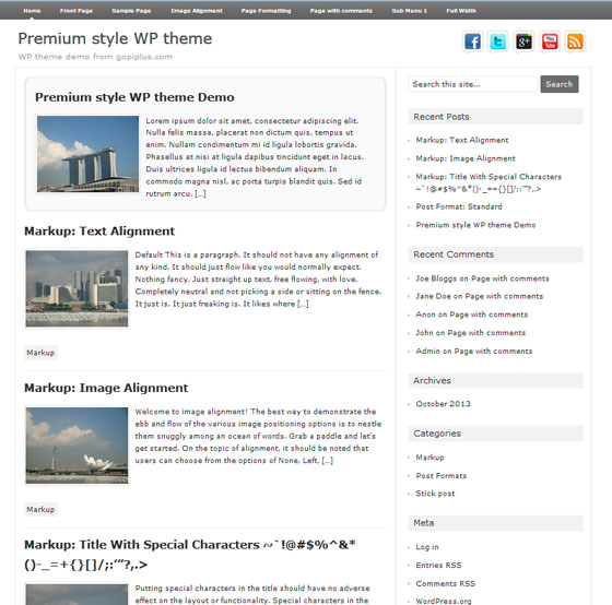 Premium Style тема WordPress