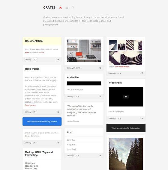 Crates тема WordPress