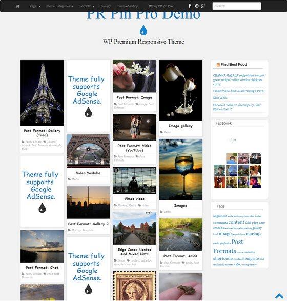 PR Pin тема WordPress
