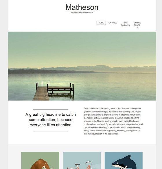 Matheson тема WordPress