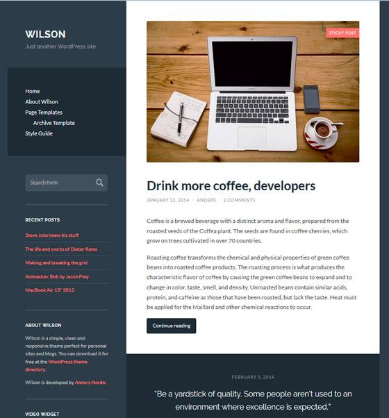 Wilson тема WordPress