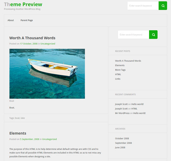 Bicubic тема WordPress