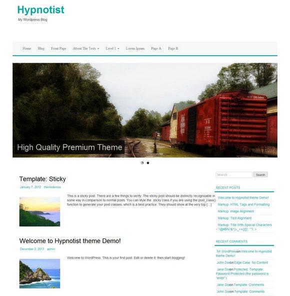 Hypnotist тема WordPress
