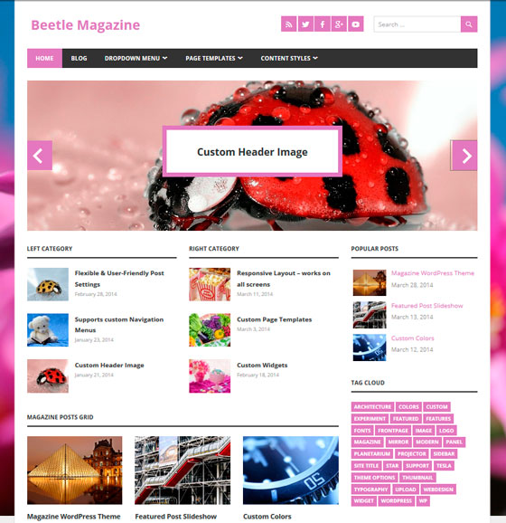 Beetle тема WordPress