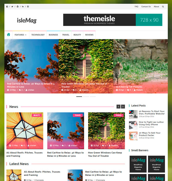 IsleMag тема WordPress