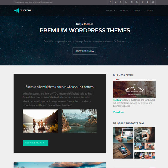 TheFour Lite тема WordPress